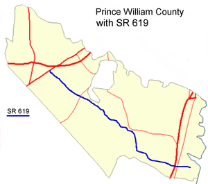 Virginia State Route 619 (Prince William County) - Image: Prince William with SR 619