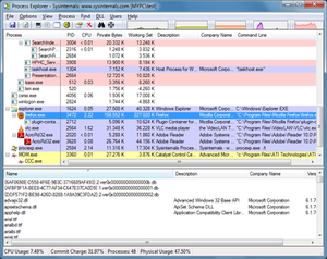 Process Explorer v16.02 running on Windows 7