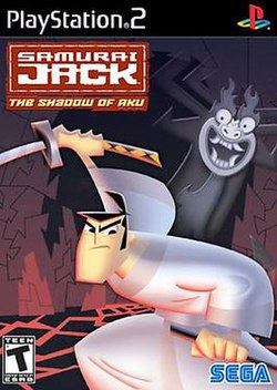 US box art for PS2 version of Samurai Jack: The Shadow of Aku