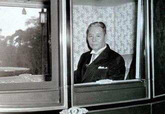 Zhang Qun - Special Envoy Chang on his way to visit Emperor Hirohito in Tokyo, 1957