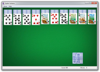 Microsoft Spider Solitaire - Image: Spider Solitaire 7