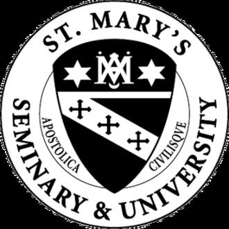 St. Mary's Seminary and University - Image: St Marys Seminary and University