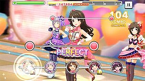 Rhythm game - The Idolmaster Cinderella Girls: Starlight Stage