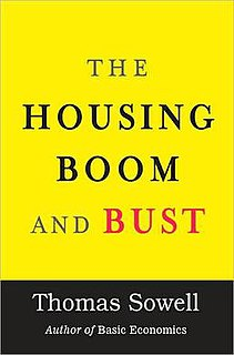 <i>The Housing Boom and Bust</i> book by Thomas Sowell