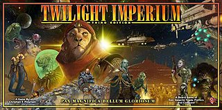 Twilight Imperium Science-fiction themed board game