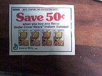A picture of a coupon for Undercover Bears Oat...