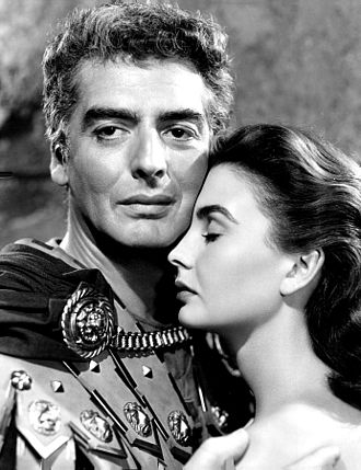 Jean Simmons - Simmons with Victor Mature in Androcles and the Lion (1952)