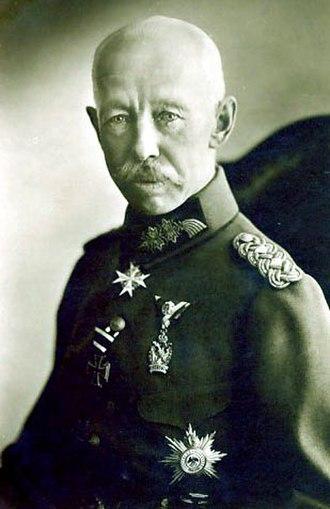 Hermann von Strantz - Hermann von Strantz during WWI