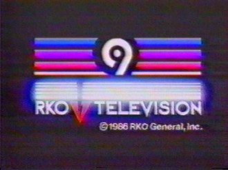 "RKO General - ""Endcap"" of WOR-TV, RKO General's station in the New York City market.  This version of the closing logo is from 1986, during the station's last months under RKO ownership."