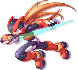 Zero (Mega Man) - In the Zero series, Zero possesses realistic, human-like features and a redesigned color scheme.