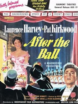 After the Ball (1957 film) - trade ad from Kinematograph Weekly