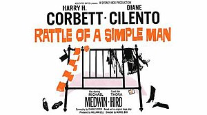 """Rattle of a Simple Man - Image: """"Rattle of a Simple Man"""" (1964)"""