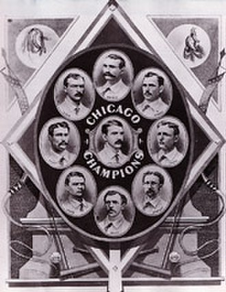 Chicago Cubs - The 1876 White Stockings won the N.L. championship