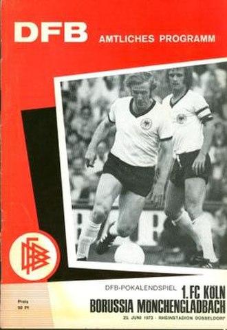 1973 DFB-Pokal Final - Image: 1973 DFB Pokal Final programme
