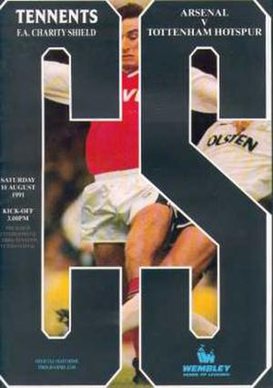 1991 FA Charity Shield - The match programme cover.