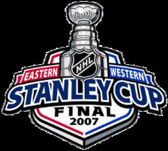 2007 Stanley Cup Finals - Image: 2007stanleycupfinal