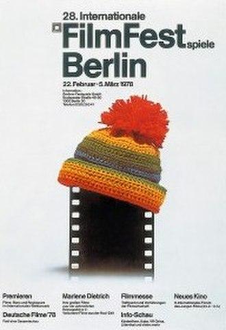 28th Berlin International Film Festival - Festival poster