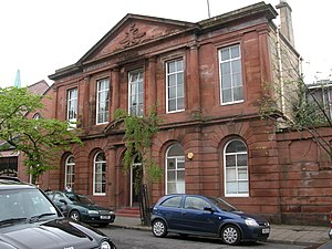 Airdrie, North Lanarkshire -  The first Airdrie Public Library building, a Carnegie library opened 1894.