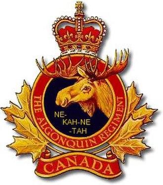 The Algonquin Regiment - Badge of the Algonquin Regiment
