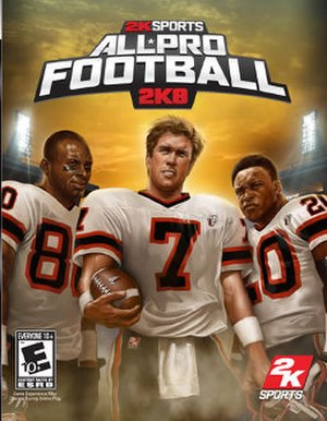All-Pro Football 2K8 - PlayStation 3 cover