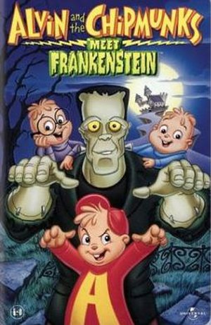 Alvin and the Chipmunks Meet Frankenstein - VHS cover