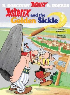 Asterix and the Golden Sickle - Cover of the English edition
