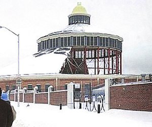 B&O Railroad Museum - The Museum on February 17, 2003, shortly after its blizzard-caused roof collapse