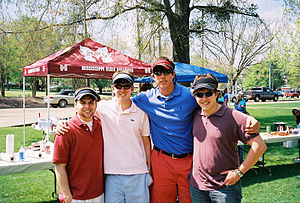 Beta Upsilon Chi - Founding fathers from Mississippi State's Omicron Chapter at a BYX tailgate