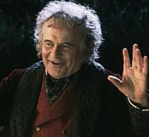 Bilbo Baggins - Ian Holm as Bilbo Baggins in Peter Jackson's The Lord of the Rings: The Fellowship of the Ring