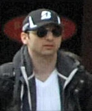 Tamerlan Tsarnaev - Tsarnaev at the site of the bombings