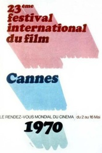 1970 Cannes Film Festival - Official poster of the 23rd Cannes Film Festival, an original illustration by French artist René Ferracci.