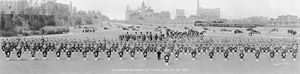 The Cameron Highlanders of Ottawa (Duke of Edinburgh's Own) - The Cameron Highlanders of Ottawa on parade, 16 May 1937