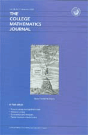 The College Mathematics Journal - Cover of November 2007 issue