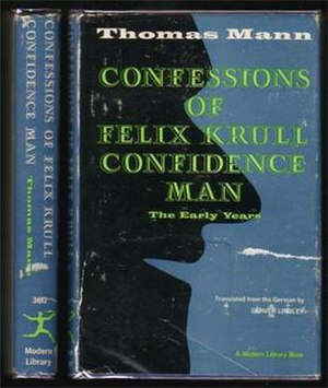 Confessions of Felix Krull - English 1st edition