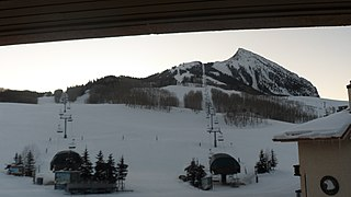 Crested Butte mountain in United States of America