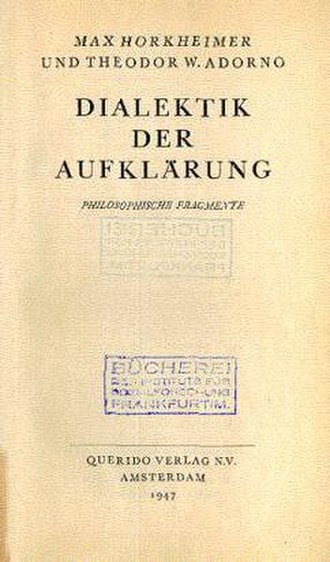 Dialectic of Enlightenment - Image: Dialectic of Enlightenment (German edition)