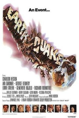 Earthquake (1974 film) - Film poster by Joseph Smith