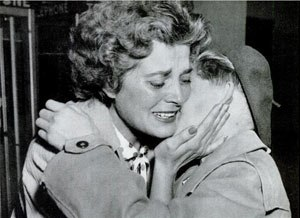 Béla H. Bánáthy - Eva Bánáthy greets her 11-year-old son László at San Francisco International Airport on September 17, 1956. They were separated in 1947 when László was one year old, when the boy and his brother were taken by her twin sister to live with their family in Hungary.