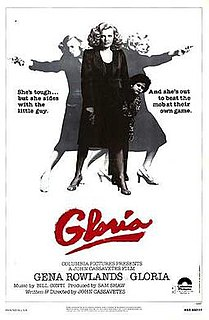 <i>Gloria</i> (1980 film) 1980 film by John Cassavetes