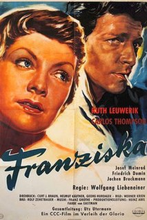 <i>Goodbye, Franziska</i> (1957 film) 1957 film from West Germany directed by Wolfgang Liebeneiner