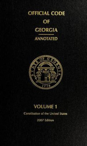 Official Code of Georgia Annotated - Cover of vol. 1 (2007 ed.)