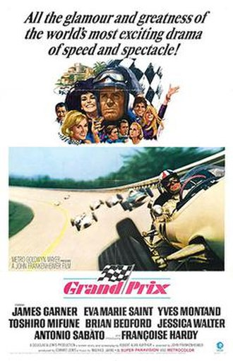Grand Prix (1966 film) - Theatrical release poster by Howard Terpning