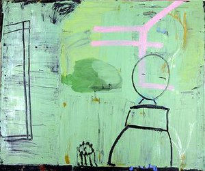 Roy Oxlade - Green Painting, 2007