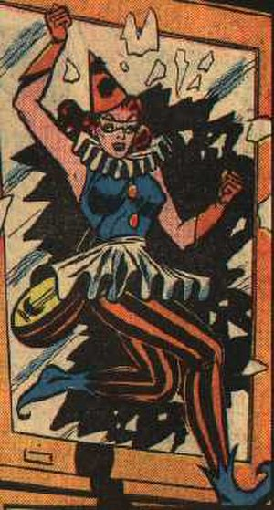 Harlequin (comics) - Mayne as she appeared as the Harlequin in the late 1940s