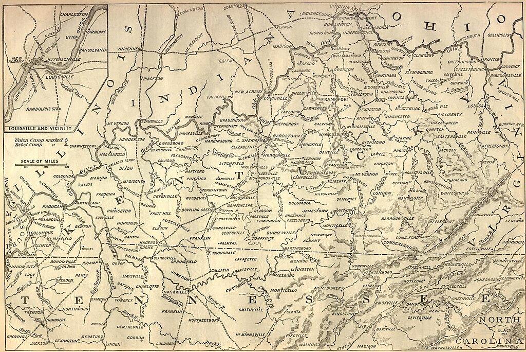FileHarpersCivilWarkentuckybattlemapjpg Wikipedia - Us civial war map wiki