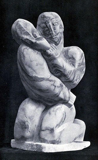 Henri Gaudier-Brzeska - Henri Gaudier-Brzeska, 1914, Boy with a Coney (Boy with a rabbit), marble