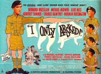 I Only Arsked! - British quad poster