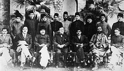 Iqbal, with Muslim political activists.