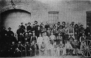 John Samuel Rowell - The JS Rowell employees about 1869.