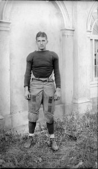 James L. White (coach) - Cavalier football player James White at Virginia's Lambeth Field in 1916